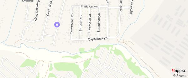 Овражная улица на карте поселка Путевки с номерами домов