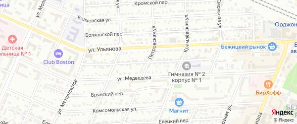Улица Плеханова на карте Брянска с номерами домов