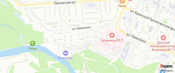 Деснинская улица на карте Брянска с номерами домов