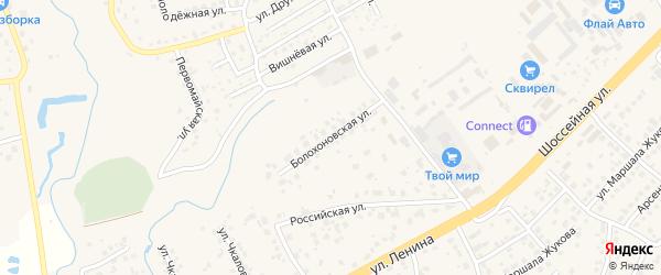 Болохоновская улица на карте села Супонево с номерами домов