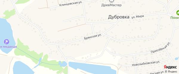 Брянская улица на карте деревни Дубровки с номерами домов