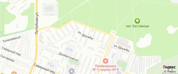 Улица Дружбы на карте Брянска с номерами домов