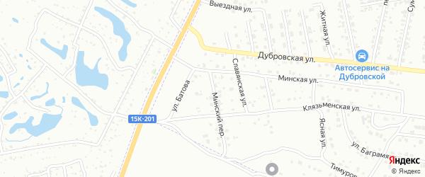 Минский переулок на карте Брянска с номерами домов