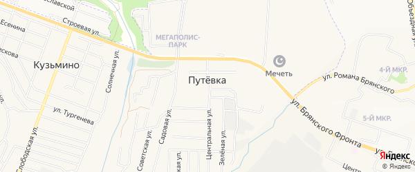 СТ Мир на карте поселка Путевки с номерами домов