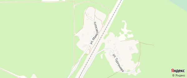 Улица Маяковского на карте поселка Кокоревки с номерами домов