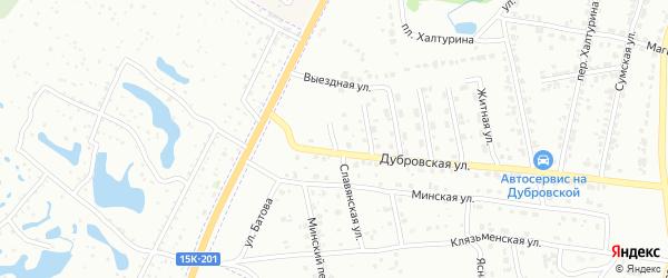 Кленовая улица на карте Брянска с номерами домов