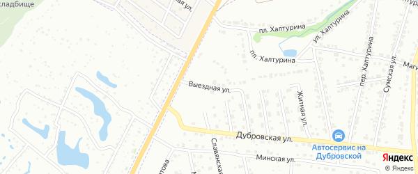 Выездная улица на карте Брянска с номерами домов