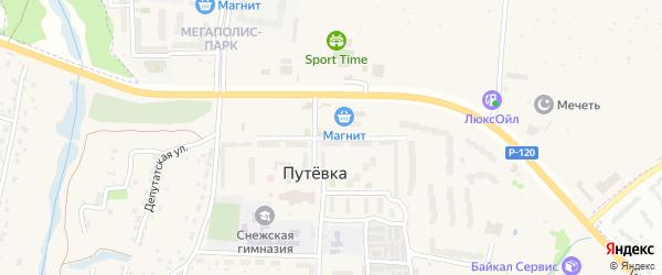 Улица Строителей на карте поселка Путевки с номерами домов