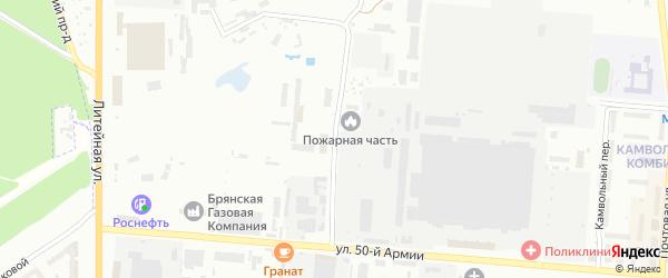Промышленная улица на карте Брянска с номерами домов