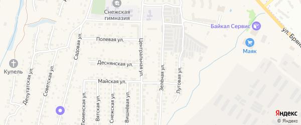 Луговой переулок на карте поселка Путевки с номерами домов