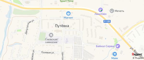 Молодежная улица на карте поселка Путевки с номерами домов