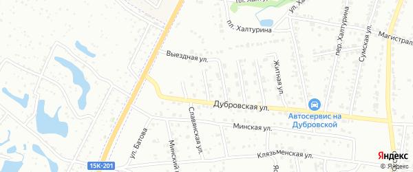 Российская улица на карте Брянска с номерами домов