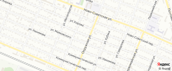 Переулок Кирова на карте Брянска с номерами домов