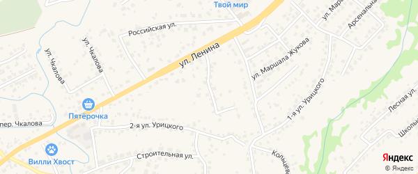 4-й Ленинский переулок на карте села Супонево с номерами домов