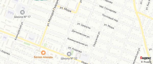 Дятьковская улица на карте Брянска с номерами домов