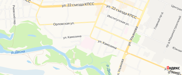 Территория Б/Г ПО УЛ. КАМОЗИНА (ОКОЛО Д.45) на карте Брянска с номерами домов
