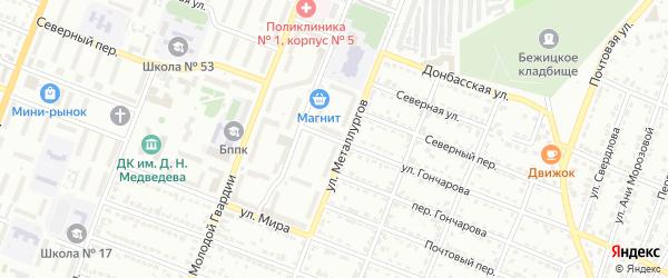 Улица Гончарова на карте Брянска с номерами домов