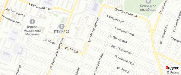 Переулок Гончарова на карте Брянска с номерами домов