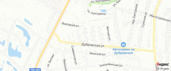 Ромашковая улица на карте Брянска с номерами домов