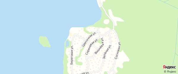 Цветочная улица на карте садового некоммерческого товарищества Коммунальника 2 с номерами домов