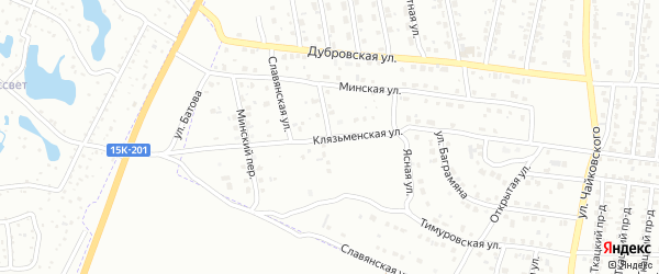 Знаменская улица на карте Брянска с номерами домов