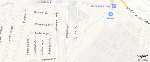 Луговая улица на карте поселка Путевки с номерами домов