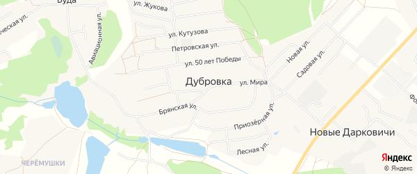 Карта деревни Дубровки в Брянской области с улицами и номерами домов
