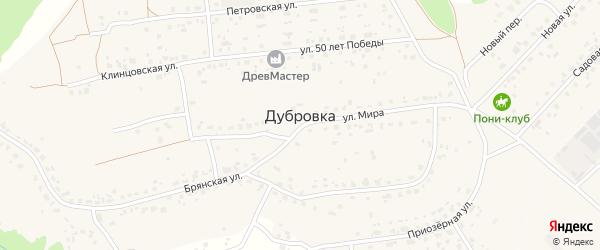 Переулок Есенина на карте деревни Дубровки с номерами домов