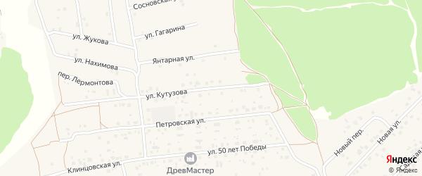 Улица Кутузова на карте деревни Дубровки с номерами домов