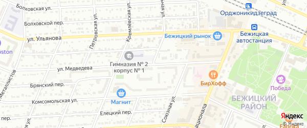 Смольная улица на карте Брянска с номерами домов