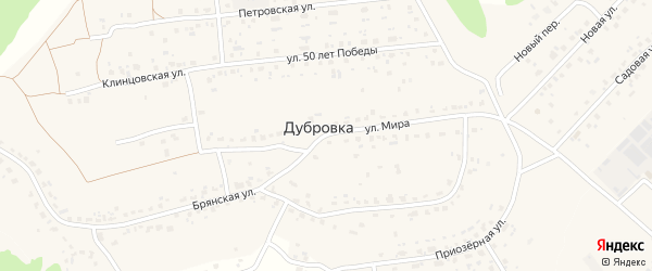 Улица Мира на карте деревни Дубровки с номерами домов