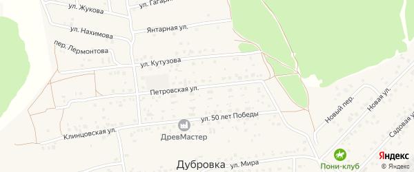 Петровская улица на карте деревни Дубровки с номерами домов