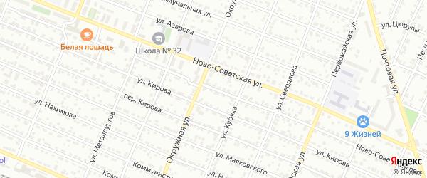 Ново-Советский переулок на карте Брянска с номерами домов