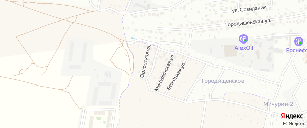 Калужская улица на карте поселка Путевки с номерами домов