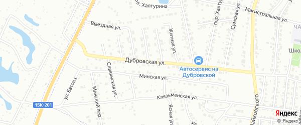 Дубровская улица на карте Брянска с номерами домов