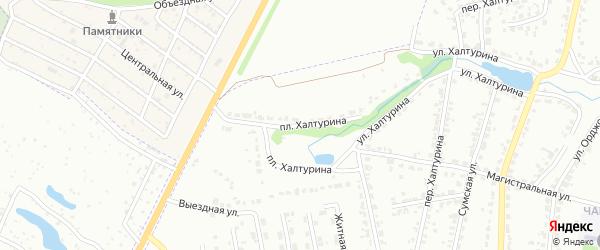 Площадь Халтурина на карте Брянска с номерами домов
