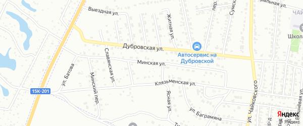 Минская улица на карте Брянска с номерами домов