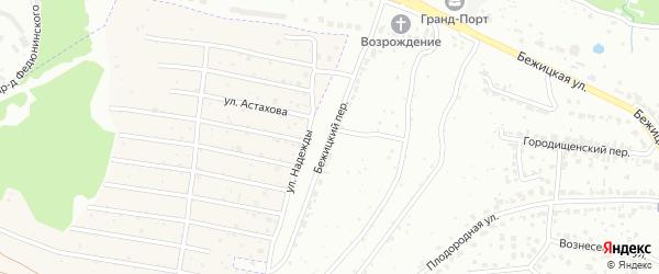 Бежицкий переулок на карте Брянска с номерами домов