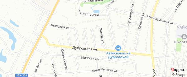 Улица Высоцкого на карте Брянска с номерами домов