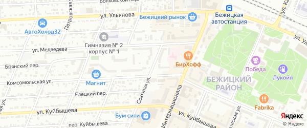 Союзная улица на карте Брянска с номерами домов