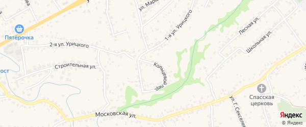 Кольцевой переулок на карте села Супонево с номерами домов