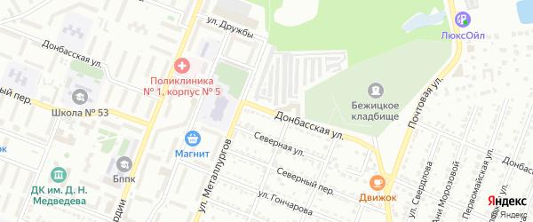 Донбасская улица на карте Брянска с номерами домов