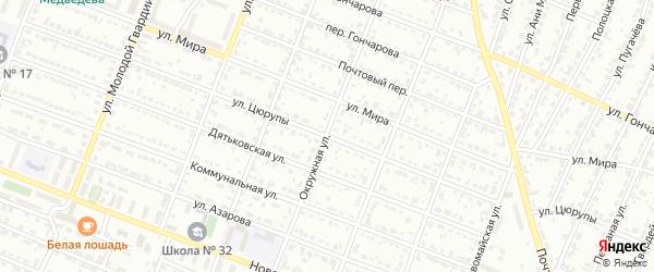 Улица Цюрупы на карте Брянска с номерами домов