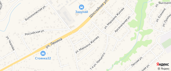 3-й Арсенальный переулок на карте села Супонево с номерами домов