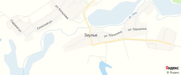 Карта села Заулье в Брянской области с улицами и номерами домов