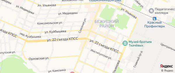 Территория ГО по 3 Интернационала на карте Брянска с номерами домов