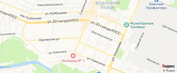 Территория со 50 лет Октября на карте Брянска с номерами домов