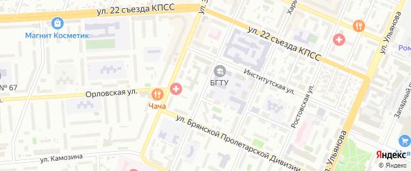 Бульвар 50 лет Октября на карте Брянска с номерами домов