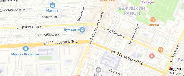Улица 3 Интернационала на карте Брянска с номерами домов
