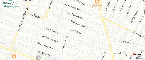 Улица Мира на карте Брянска с номерами домов